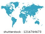 color world map vector | Shutterstock .eps vector #1216764673