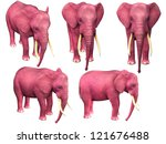 Pink Elephant. Image Isolated...