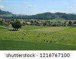 landscape in switzerland. view...   Shutterstock . vector #1216767100