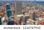 blur background. skyscrapers in ... | Shutterstock . vector #1216767910