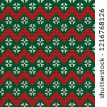 knitted christmas and new year... | Shutterstock .eps vector #1216768126