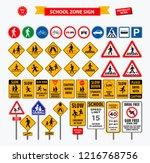 Set Of School Sign Zone ...