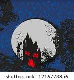 halloween invitation with... | Shutterstock .eps vector #1216773856