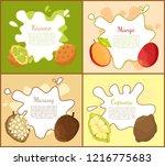 kiwano and mango  marang and... | Shutterstock .eps vector #1216775683
