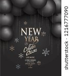 new year celebration party... | Shutterstock .eps vector #1216777090