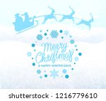 merry christmas and happy... | Shutterstock .eps vector #1216779610