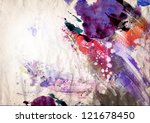 abstract ink painting on grunge ... | Shutterstock . vector #121678450