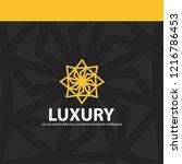 luxury gold emblem template | Shutterstock .eps vector #1216786453