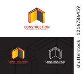 buildings construction logo... | Shutterstock .eps vector #1216786459