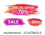 vector collection of special... | Shutterstock .eps vector #1216786513