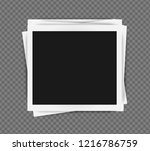 polaroid frames template with... | Shutterstock .eps vector #1216786759