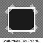square frame template on sticky ... | Shutterstock .eps vector #1216786783