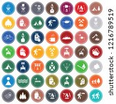 set of camping equipment icons. ... | Shutterstock .eps vector #1216789519
