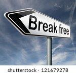 break free breaking into...   Shutterstock . vector #121679278