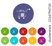 basket calendar twenty fifth of ... | Shutterstock . vector #1216796710