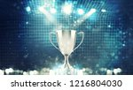 silver winner s cup in the... | Shutterstock . vector #1216804030