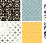 patterns set - stock vector