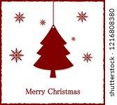 christmas greeting card. vector ...   Shutterstock .eps vector #1216808380