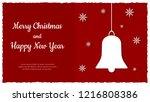 christmas greeting card. vector ...   Shutterstock .eps vector #1216808386