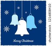 christmas greeting card. vector ...   Shutterstock .eps vector #1216808410