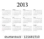 calendar 2013. template for... | Shutterstock . vector #121681510