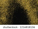 round gold glitter texture... | Shutterstock .eps vector #1216818136