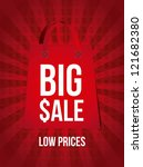 big sale announcement over red... | Shutterstock .eps vector #121682380