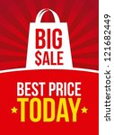 big sale announcement over red... | Shutterstock .eps vector #121682449
