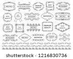 calligraphic design elements .... | Shutterstock .eps vector #1216830736