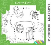 dot to dots drawing worksheets. ... | Shutterstock .eps vector #1216843996