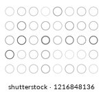 set abstract geometric shapes ... | Shutterstock .eps vector #1216848136