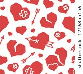st. valentine's day hearts low... | Shutterstock .eps vector #1216855156