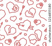 st. valentine's day hearts low... | Shutterstock .eps vector #1216855180