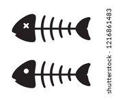 fish bone vector salmon tuna... | Shutterstock .eps vector #1216861483