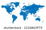the world and malaysia map | Shutterstock .eps vector #1216863973