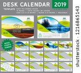 desk calendar 2019  desktop... | Shutterstock .eps vector #1216865143
