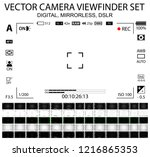 camera focusing screen 65 in 1... | Shutterstock .eps vector #1216865353