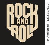 rock music print for t shirt ... | Shutterstock .eps vector #1216867630
