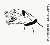 image of barking dog | Shutterstock .eps vector #1216868959