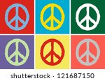 peace symbol isolated on white | Shutterstock .eps vector #121687150