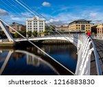 newcastle upon tyne england.... | Shutterstock . vector #1216883830