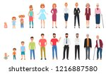 life cycles of man and woman.... | Shutterstock .eps vector #1216887580