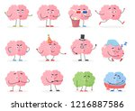 brain character emoji emoticons ... | Shutterstock .eps vector #1216887586