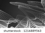 abstract polygonal space low... | Shutterstock . vector #1216889563