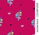 abstract seamless girlish... | Shutterstock .eps vector #1216891069