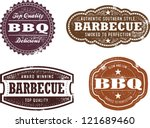 vintage style barbecue bbq... | Shutterstock .eps vector #121689460