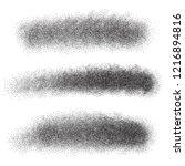 vector set of stippled strokes  ...   Shutterstock .eps vector #1216894816