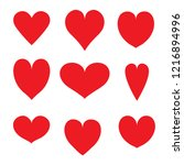 a selection of heart shapes | Shutterstock .eps vector #1216894996