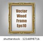 gold photo frame with corner... | Shutterstock .eps vector #1216898716