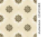 seamless vintage nautical wind... | Shutterstock . vector #1216911883